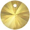 Swarovski 6428 Xilion Rivoli Pendant Crystal Metallic Sunshine 6mm