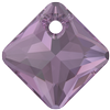 Swarovski 6431 Princess Cut Pendant Amethyst 16mm