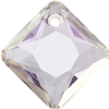 Swarovski 6431 Princess Cut Pendant Crystal AB 16mm