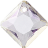 Swarovski 6431 Princess Cut Pendant Crystal AB 11.5mm