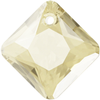 Swarovski 6431 Princess Cut Pendant Crystal Golden Shadow 9mm