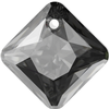 Swarovski 6431 Princess Cut Pendant Crystal Silver Night 16mm