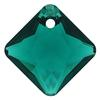 Swarovski 6431 Princess Cut Pendant Emerald 9mm