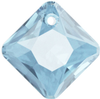 Swarovski 6431 Princess Cut Pendant Aqua 9mm