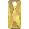 Swarovski 6465 Queen Baguette Pendant Crystal Metallic Sunshine 13.5x6mm