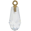 Swarovski 6531 Pure Drop Pendant with Classic Cap Crystal / Gold 15.5mm