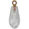Swarovski 6531 Pure Drop Pendant with Classic Cap Crystal Rose Gold 15.5mm