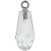 Swarovski 6531 Pure Drop Pendant with Classic Cap Crystal / Silver 15.5mm