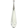 Swarovski 6532 Pure Drop Pendant with Trumpet Cap Crystal / Rhodium 44mm