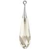 Swarovski 6532 Pure Drop Pendant with Trumpet Cap Crystal Silver Shade / Silver 21mm