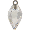 Swarovski 6541 Twisted Drop Pendand with Classic Cap Crystal / Gunmetal 14.5mm
