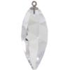 Swarovski 6541 Twisted Drop Pendand with Classic Cap Crystal / Silver 34.5mm