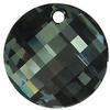 Swarovski 6621 Twist Pendant Crystal Silver Night 18mm