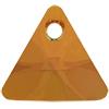 Swarovski 6628 Xilion Triangle Pendant Mahogany 12mm
