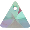 Swarovski 6628 Xilion Triangle Pendant Crystal Paradise Shine 12mm