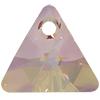Swarovski 6628 Xilion Triangle Pendant Crystal Purple Haze 12mm