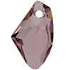 Swarovski 6656 Galactic Vertical Pendant Crystal Antique Pink 19mm