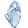 Swarovski 6656 Galactic Vertical Pendant Crystal Blue Shade 19mm