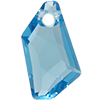 Swarovski 6670 De-Art Pendant Aquamarine 18mm