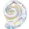 Swarovski 6731 Sea Snail Pendant (Partly Frosted) Crystal AB 14mm