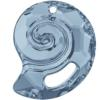 Swarovski 6731 Sea Snail Pendant (Partly Frosted) Crystal Blue Shade 28mm