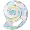 Swarovski 6731 Sea Snail Pendant (Partly Frosted) Crystal AB 28mm