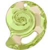 Swarovski 6731 Sea Snail Pendant (Partly Frosted) Crystal Luminous Green 28mm
