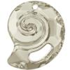 Swarovski 6731 Sea Snail Pendant (Partly Frosted) Crystal Silver Shade 28mm