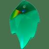 Swarovski 6735 Leaf Pendant Emerald 26x16mm