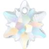 Swarovski 6748/G Edelweiss Pendant, Partly Frosted Crystal AB 18mm