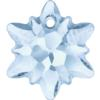 Swarovski 6748/G Edelweiss Pendant, Partly Frosted Crystal Blue Shade 18mm