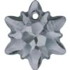 Swarovski 6748/G Edelweiss Pendant, Partly Frosted Crystal Silver Night 14mm
