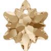 Swarovski 6748 Edelweiss Pendant Crystal Golden Shadow 14mm