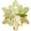 Swarovski 6748 Edelweiss Pendant Crystal Luminous Green 14mm