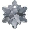 Swarovski 6748 Edelweiss Pendant Crystal Silver Night 14mm