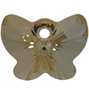 Swarovski 6754 Butterfly Pendant Crystal Bronze Shade 18mm