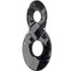 Swarovski 6792 Infinity Pendant Crystal Silver Night 18mm