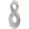 Swarovski 6792 Infinity Pendant Crystal Silver Shade 18mm