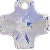 Swarovski 6866 Cross Pendant Crystal AB 20mm