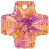Swarovski 6866 Cross Pendant Crystal Astral Pink 20mm