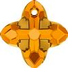 Swarovski 6868 Cross Tribe Pendant 14mm Topaz Dorado