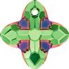 Swarovski 6868 Cross Tribe Pendant Peridot Scarabaeus Green 14mm