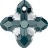 Swarovski 6868 Cross Tribe Pendant Graphite Light Chrome 14mm