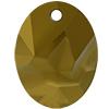 Swarovski 6911 Kaputt Oval Pendant Crystal Dorado 26mm