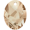 Swarovski 6911 Kaputt Oval Pendant Crystal Golden Shadow 26mm