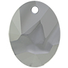 Swarovski 6911 Kaputt Oval Pendant Crystal Light Chrome 26mm