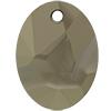 Swarovski 6911 Kaputt Oval Pendant Crystal Metallic Light Gold 26mm
