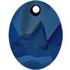 Swarovski 6911 Kaputt Oval Pendant Crystal Metallic Blue 26mm