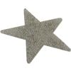 Swarovski 72002 Crystal Rocks Washable Star 76 x 80 mm Silver Shade