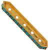 Swarovski 77730 Rondelle Spacer Bars 5 Hole Blue Zircon/Gold